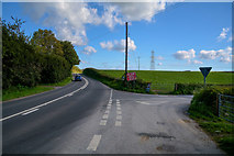 SS5726 : North Devon : The A377 by Lewis Clarke