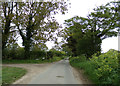 TM4878 : Rissemere Lane East & footpath by Adrian Cable