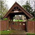 ST2682 : Early 20th century lychgate, Church Lane, Marshfield by Jaggery