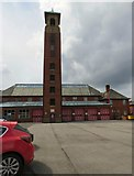 SD8912 : Drill Tower at Rochdale Fire Station by Gerald England