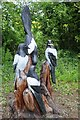 SO7919 : Magpie tree sculpture by Philip Halling