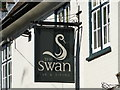TM1877 : The sign of The Swan, Hoxne by Adrian S Pye