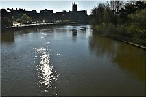 SO8454 : Worcester Bridge over the River Severn: Looking towards the cathedral by Michael Garlick