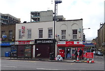TQ3581 : Stepney Post Office and shops by JThomas