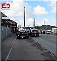 SN4119 : Carmarthen railway station taxi rank by Jaggery