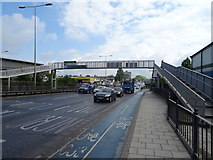 TQ4483 : Footbridge over Alfred's Way (A13), Barking by JThomas