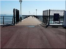 TR3140 : Entrance to the Marina Pier by John Baker