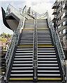 SK9770 : Steps up to footbridge by Julian P Guffogg