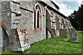 SO2698 : Chirbury, St. Michael's Church: Victorian buttressing to counteract the movement of the columns by Michael Garlick