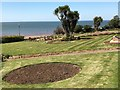 TF6741 : Clifftop gardens in Hunstanton by Richard Humphrey