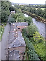 NY4654 : Houses under the railway bridge, Wetheral by Rudi Winter