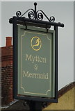 SJ5409 : Sign for the Mytton & Mermaid Hotel, Atcham by JThomas