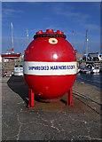 NJ2371 : The Shipwrecked Mariners Society collection box at Lossiemouth by Walter Baxter