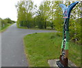SJ3469 : National Cycle Network Milepost by Mat Fascione