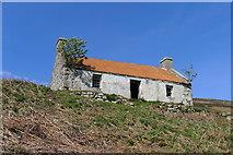NC8856 : Deserted croft overlooking Halladale River by Tim Heaton