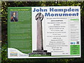 SP8601 : Information Board at John Hampden Monument, Prestwood by David Hillas