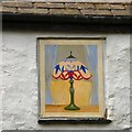 SH6076 : Green Cottages: Painted window (3) by Gerald England