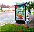 ST3089 : Alabama Chicken advert on  a Malpas Road bus shelter, Newport by Jaggery