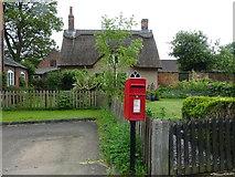 SJ5409 : Elizabeth II postbox on the B4380, Atcham by JThomas