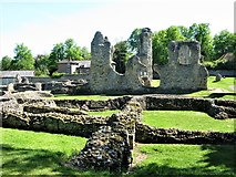 TL8564 : Part of the ruins of Bury St Edmunds Abbey by G Laird