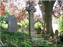 TG2408 : Celtic-style cross on the terraces by Evelyn Simak