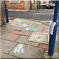 SP2865 : Services plotted, corner of Barrack Street and Northgate Street, Warwick by Robin Stott