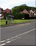 ST3090 : Bus stop and shelter near the southern end of Rowan Way, Malpas, Newport by Jaggery