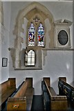 SY1988 : Branscombe, St. Winifred's Church: c14th windows in the chancel (north) by Michael Garlick