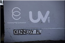 C4316 : Street sign, Kennedy Place, Derry / Londonderry by Kenneth  Allen