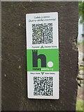 SH6266 : HiPoints information QR code for the quarry strike memorial, Bethesda by Meirion