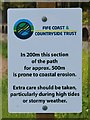NT3194 : Sign on Fife Coastal Path by Bill Kasman