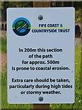 NT3194 : Sign on Fife Coastal Path by Bill Kasman