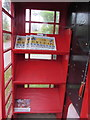 ST6092 : Inside a former red phonebox, Oldbury-on-Severn  by Jaggery