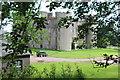 ST2186 : Ruperra Castle - northwest corner by M J Roscoe