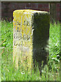SJ3069 : Hawarden/Englefield Lordship/Flint Boundary Stone at Connah's Quay Waste Water Treatment Works by John S Turner