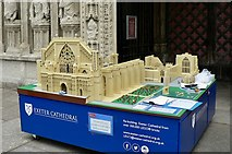 SX9292 : Fundraising LEGO model at Exeter Cathedral by john bristow