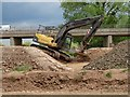 SO8451 : Excavator beside the southern relief road by Philip Halling