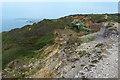 SZ3085 : Landslip, Headon Warren, Isle of Wight by Robin Drayton