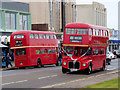 SD4364 : Two Routemasters in Morecambe by David Dixon