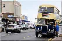 SD4364 : Vintage Bus on Marine Drive Central by David Dixon
