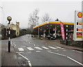 SO2118 : Zebra crossing near a Shell filling station, Crickhowell by Jaggery