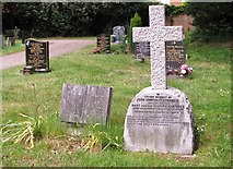 TG2408 : The grave of John Humphrey Lawrence and Heathcote Dicken Statham by Evelyn Simak