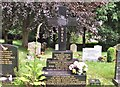TG2408 : The grave of Thorvald Christinius and Lilian Iris Wetteland by Evelyn Simak