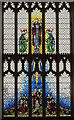 TG2142 : West window, Ss Peter & Paul church, Cromer by Julian P Guffogg