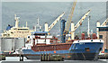 "J3575 : The ""Nikar G"", Belfast harbour (June 2019) by Albert Bridge"