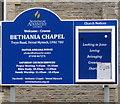 ST1493 : Information board, Bethania Chapel, Twyn Road, Ystrad Mynach by Jaggery