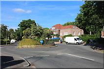 TQ2688 : Roundabout on Winnington Road, Hampstead Garden Suburb by David Howard