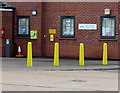 ST1493 : Yellows outside Ystrad Mynach Police Station by Jaggery