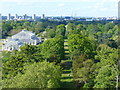 TQ1876 : View of Kew Gardens from the Pagoda by Ruth Sharville