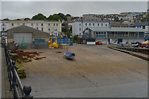 SW8132 : Slipway, Falmouth harbour by habiloid